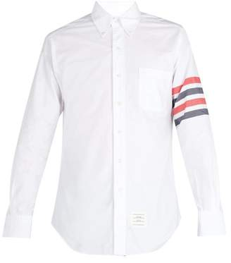 Thom Browne Tricolour Cotton Oxford Shirt - Mens - Multi