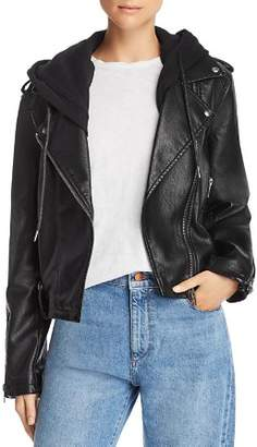 Blank NYC BLANKNYC Hooded Faux Leather Moto Jacket
