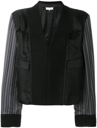 Maison Margiela contrast sleeve fitted jacket