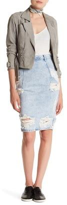 One Teaspoon Salty Freelove Denim Pencil Skirt $126 thestylecure.com