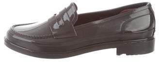 Hunter Rubber Round-Toe Loafers