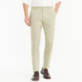 J.Crew Ludlow Slim-fit unstructured suit pant in cotton-linen