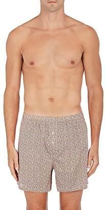 Paul Smith Men's Floral Cotton Poplin Boxers $65 thestylecure.com