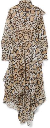 Petar Petrov Leopard-print Chiffon Midi Dress - Leopard print