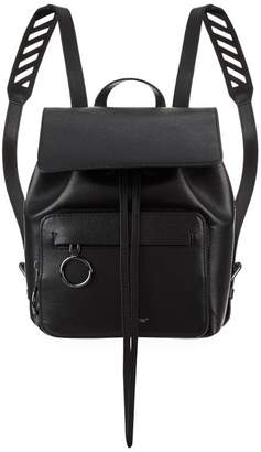 Off-White Leather Chevron Backpack
