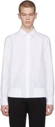 Neil Barrett White Blouson Shirt