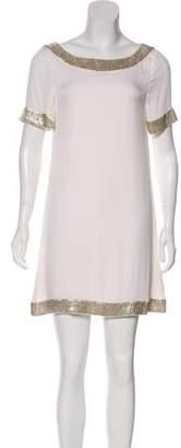 Alice + Olivia Silk Bead-Trimmed Dress