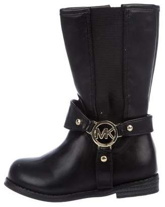 Michael Kors Girls' Leather Logo Boots
