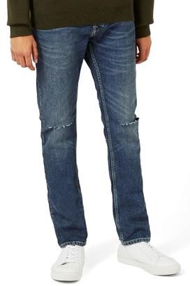 Men's Topman Ripped Slim Fit Jeans $75 thestylecure.com