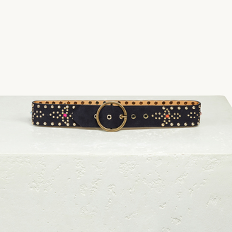 Wide belt with studs $170 thestylecure.com