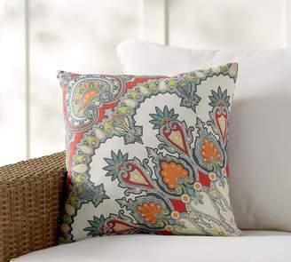"Pottery Barn Valencia Paisley Print Indoor/Outdoor Pillow - 18"""