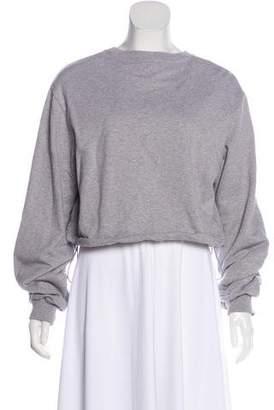 3.1 Phillip Lim Crop Sweatshirt Top