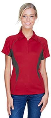 Ash City - North End Sport Red Ladies' Serac UTK cool?logik Performance Zippered Polo - OLYMPIC RED 665 - S 78657