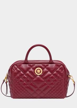 Versace Quilted Satchel Bag