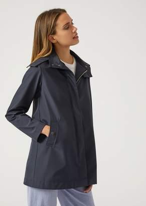 Emporio Armani Hooded Raincoat