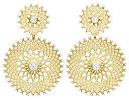 Paul Morelli Spiral Mesh Diamond Drop Earrings