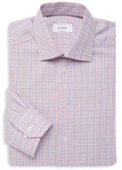 Eton Plaid Long-Sleeve Dress Shirt