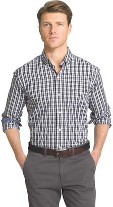 Izod Men's Advantage Slim-Fit Checked Stretch Button-Down Shirt