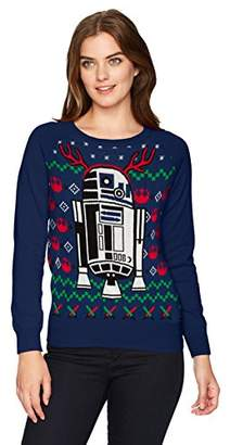 Star Wars Hybrid Apparel Wome's R2d2 Holiday Sweater with Music