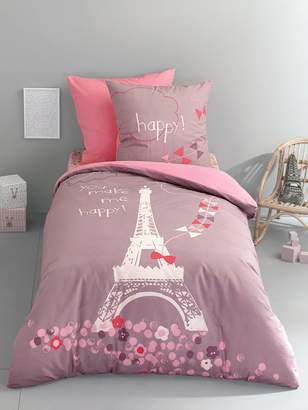 Vertbaudet Duvet Cover & Pillowcase Set, A Night in Paris Theme