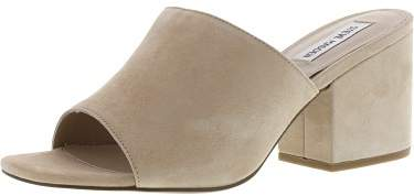 Steve Madden Women's Dalis Suede Sand Leather Mules - 9.5M