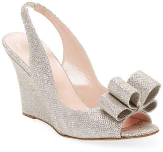 Kate Spade Irene Metallic Wedge Sandal