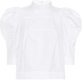 Chloé Puff-shoulder cotton blouse