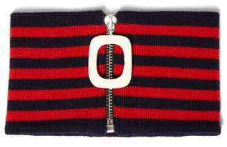 J.W.Anderson Striped Wool Neckband - Womens - Red