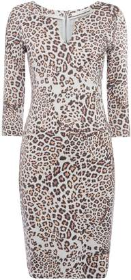 Oui Leopard jersey dress