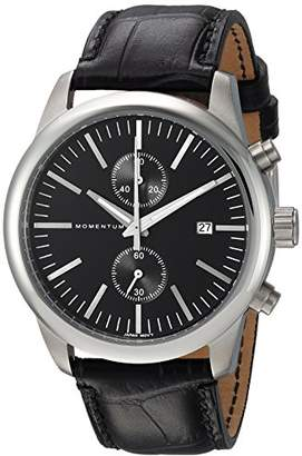 Momentum Men's 'Chronograph Collection' Quartz Stainless Steel and Leather Casual Watch