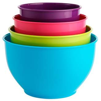 George Home 4 Piece Coloured Mixing Bowls
