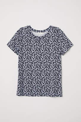 H&M Patterned Jersey Top - Blue