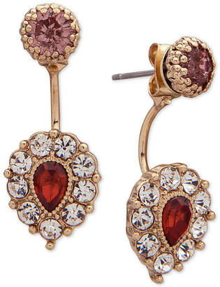 lonna & lilly Gold-Tone Pave & Stone Jacket Earrings