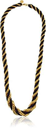 Ben-Amun Jewelry St. Tropez Long Gold and Navy Rope Necklace