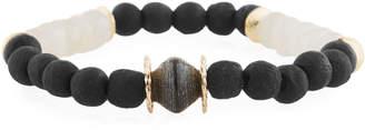 Neiman Marcus Akola Paper Moonstone Beaded Bracelet