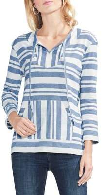 Vince Camuto Sapphire Bloom Striped Sweater