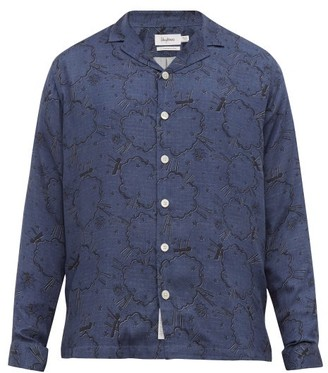 Schnaydermans Schnayderman's - Graphic Print Twill Shirt - Mens - Blue