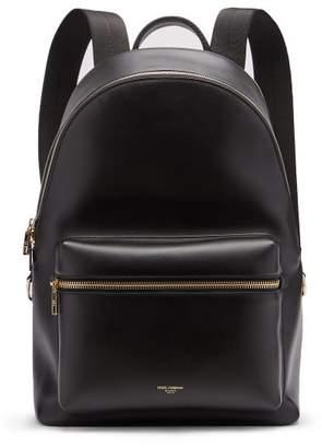 Dolce & Gabbana Vulcano Leather Backpack - Mens - Black