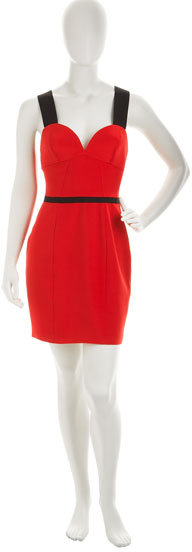 Jay Godfrey Triangle Cup Dress, Red
