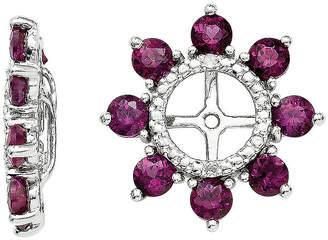 FINE JEWELRY Diamond Accent & Rhodolite Garnet Sterling Silver Earring Jackets
