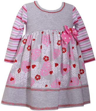 Bonnie Jean Long Sleeve A-Line Dress - Baby Girls