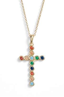 Argentovivo Rainbow Cross Pendant Necklace