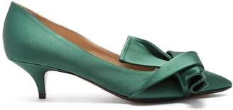 No.21 NO. 21 Twisted-satin pumps
