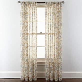 ROYAL VELVET Royal Velvet Villa Rod-Pocket Curtain Panel