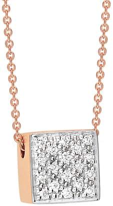 ginette_ny Baby Diamond Ever Square Necklace