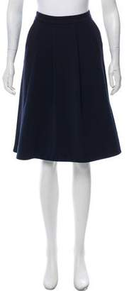 Ellen Tracy Pleated Knee-Length Skirt