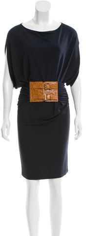 MICHAEL Michael KorsMichael Kors Belted Knee-Length Dress