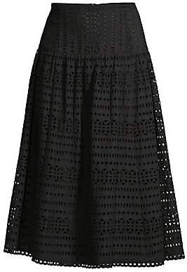 037fdc0e160b Nanette Lepore Women's Lace Eyelet A-Line Skirt