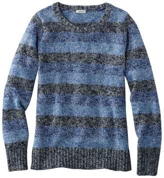 L.L. Bean L.L.Bean Women's Cotton Ragg Sweater, Marled Stripe