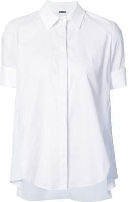 ADAM by Adam Lippes Pinstripe High Low Shirt